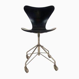 Sedia da ufficio serie 7 vintage di Arne Jacobsen per Fritz Hansen