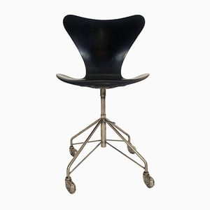 Vintage Series 7 Office Chair by Arne Jacobsen for Fritz Hansen