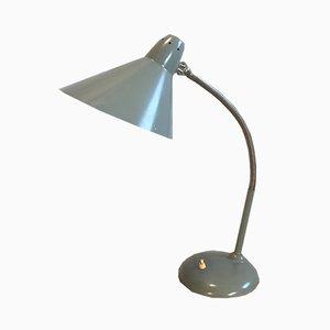 Graue industrielle Tischlampe mit Schwanenhals von Hala, 1960er