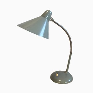 Industrial Grey Gooseneck Table Lamp from Hala, 1960s