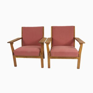 Model GE-265 Armchairs, 1950s, Set of 2