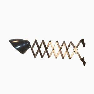 Industrielle Scissor Wandlampe, 1950er
