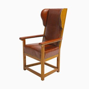 Cherry Wingback Chair, 1830s