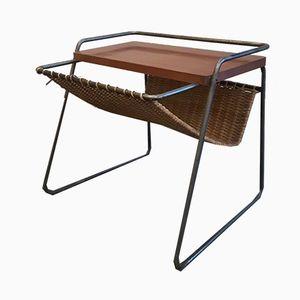 Vintage Side Table with Magazine Rack by Georges Frydman for Efa
