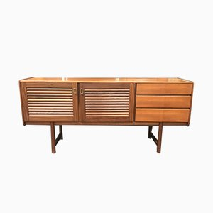 Vintage Slatted Teak Sideboard by Tom Robertson for McIntosh