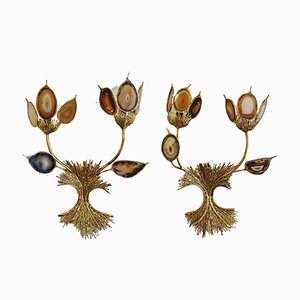 Sconces by Jacques Duval Brasseur, 1970s, Set of 2