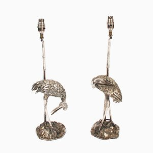 Crane Table Lamps by S. T Valenti, 1960s, Set of 2