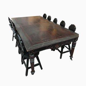 Antiker spanischer Napoleon III Tisch