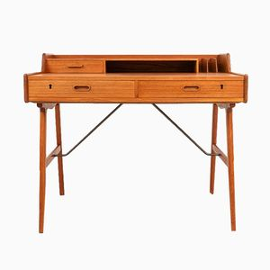 Teak Desk by Arne Wahl Iversen for Vinde, 1960s