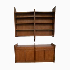 Italian Cupboards and Bookcases, 1959, Set of 2