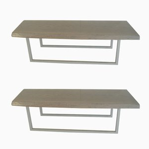 Brazilian Wooden Benches, 1979, Set of 2