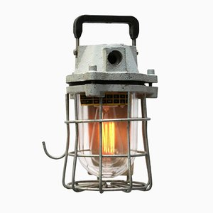 Mid-Century Industrial Mining Cage Lighting, 1960s