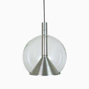 Deckenlampe aus Glas von Erco, 1970er