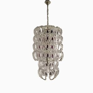 Mid-Century Murano Glass Giogali Chandelier by Angelo Mangiarotti for Vistosi