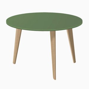 Medium BIDULE Coffee Table with Green Lacquered Top & Natural Oak Feet by Henri Tujague