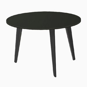 Medium BIDULE Coffee Table with Black Lacquered Top & Black Oak Feet by Henri Tujague