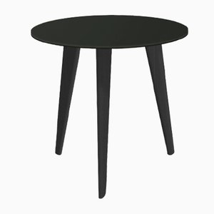 Small BIDULE Coffee Table with Black Lacquered Top & Black Oak Feet by Henri Tujague