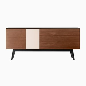 APERITIU Sideboard in Black, Cream, & Natural Oak by Henri Tujague
