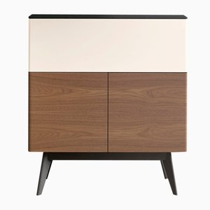 MANEGA Secretaire in Black Oak & Natural Walnut by Henri Tujague
