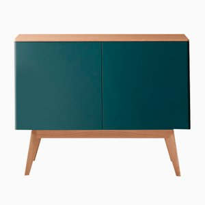 BOC Sideboard with Blue Lacquered Front by Henri Tujague