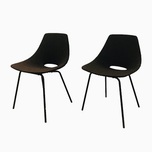 Tonneau Chairs by Pierre Guariche for Steiner, 1954, Set of 2