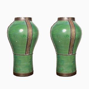 Marokkanische Vasen, 1960er, 2er Set