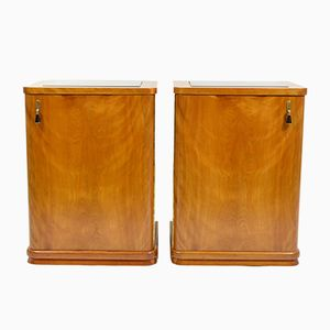 Bedside Tables, 1920s, Set of 2