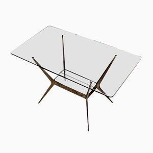 Table Basse en Laiton par Cesare Lacca, 1960s