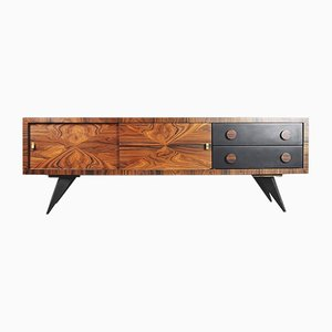 Italian Burl Rosewood Sideboard with Drawers, 1960s