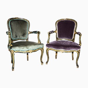 Antique Victorian Armchairs, Set of 2