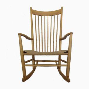 Rocking Chair J16 en Hêtre par Hans J. Wegner pour FDB, 1960s