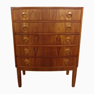 Danish Teak Chest of Drawers by Kai Kristiansen for Feldballes Møbelfabrik, 1960s
