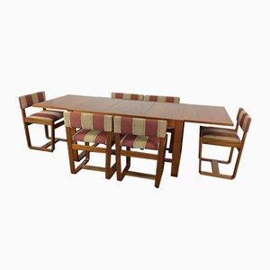 Mesa de comedor Mid-Century y seis sillas de Gunther Hoffstead para Uniflex