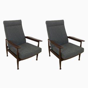 Butacas reclinables Mid-Century de George Fejer y Eric Phamphilan para Guy Rogers. Juego de 2