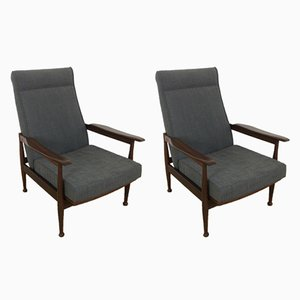 Mid-Century Reclining Armchairs by George Fejer and Eric Phamphilan for Guy Rogers, Set of 2