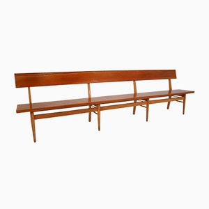 Scandinavian Wooden Bench, 1960s
