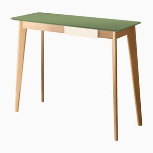 CIMA Console Table with Green Lacquered Top by Henri Tujague