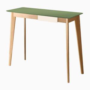 Mesa consola CIMA con tablero lacado en verde de Henri Tujague
