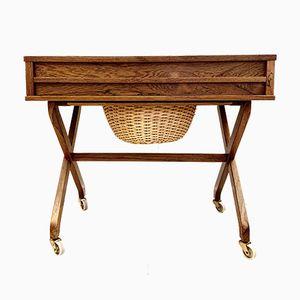 Mesa de costura danesa Mid-Century de palisandro