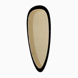 Spiegel mit Rahmen aus schwarzem Marmor, 1950er
