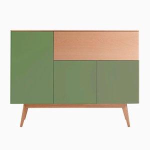 BAÜT Sideboard mit grün lackierter Front von Henri Tujague