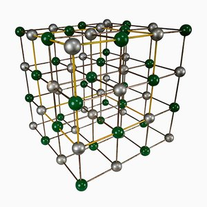 Modello atomico molecolare Mid-Century colorato