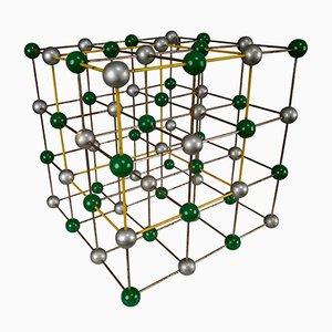 Modelo molecular atómico Mid-Century de colores