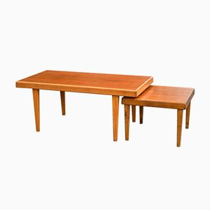 Swedish Teak Coffee Tables from Bergmans Möbler, 1970s, Set of 2