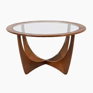 Mid-Century Afromisa and Glass Table by Victor Wilkins for G-Plan