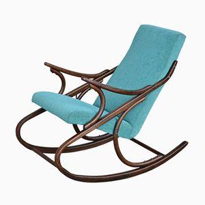 Rocking Chair Turquoise de TON, 1950s