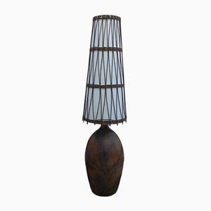 Lámpara de pie francesa de cerámica, años 60