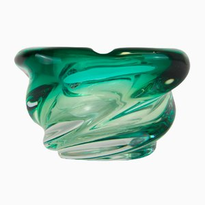 Vintage Green Gradient Glass Bowl from Scailmont