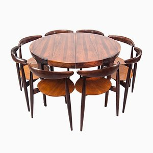 The Heart Dining Set by Hans J. Wegner for Fritz Hansen, 1950s