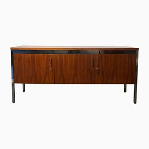 French Wood and Chrome Sideboard, 1970s